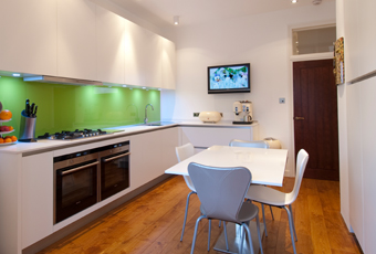 contemporary kitchen-diner