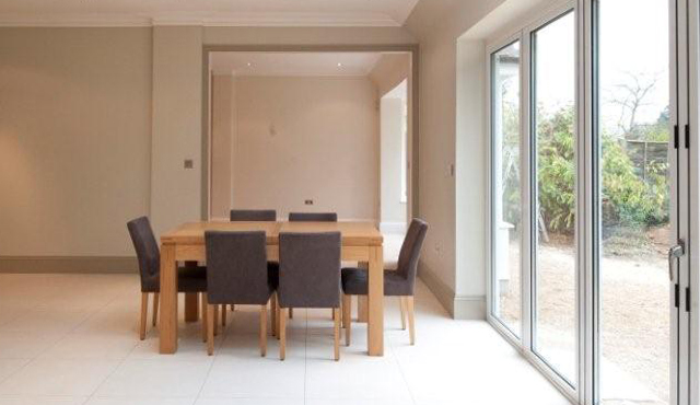 house extension, new dining area