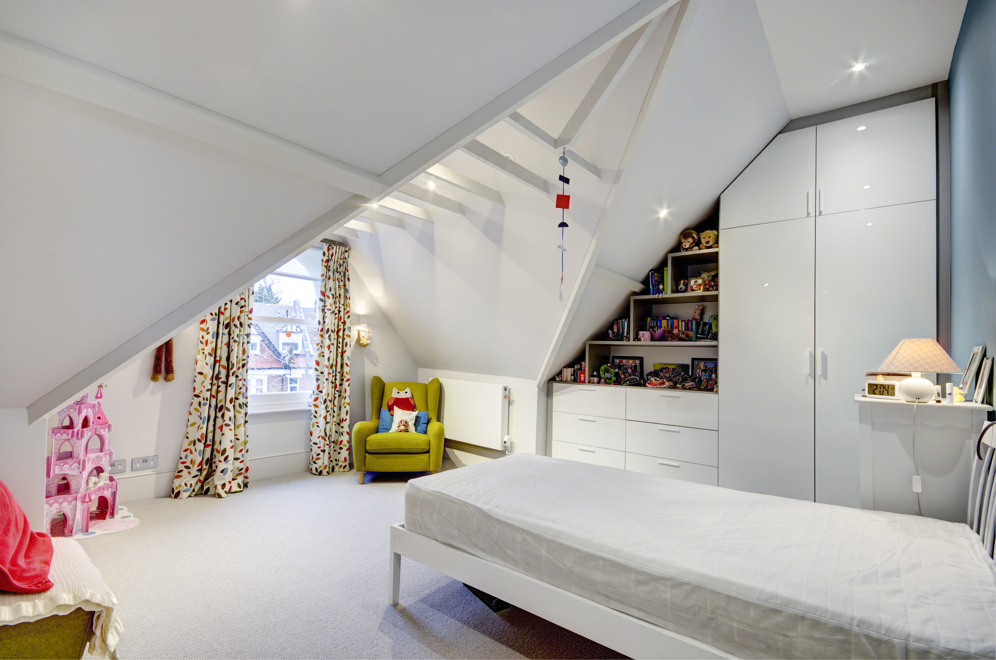 Terraced house loft conversion bedroom