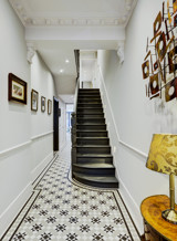 Terraced house hall and stairs